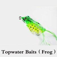 Wholesale Top Water Soft Fishing Lures Frogs For Snakehead Topwater Baits Pesca Fishing Artificial Lure Frog Bait Isca Artificial Fishing Tackle