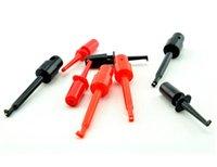 Wholesale 20 set DIY Single Test Hook Clip Mini Grabber Test Mini Probe For Multimeter Lead Wire Kit SMT SMD IC D20 Cable Welding