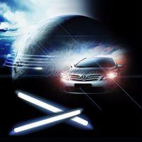 Cheap 2pcs set LED Daytime Running Light 0-16 V Waterproof Daylight COB Car LED DRL Driving Fog Light