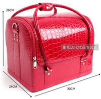 Wholesale Cosmetic Professional Cosmetic Case Cosmetic large double open box nail box munsu
