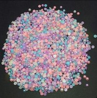 Wholesale 1000pcs MM blend color semi circular flat surface scattered beads
