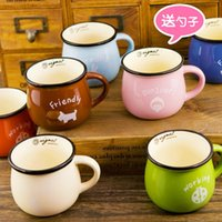 barley flakes - 1505 Multicolour Large ceramic zakka milk mug breakfast cup barley flake cup