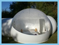 Wholesale outdoor camping and beach sight seeing bubble lodge inflatable clear lawn dome tent