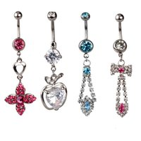 Wholesale 2015 new Fashion new mixed different designs Navel Belly Button Rings L steel Navel piercing hard to resist Piercings body jewelry