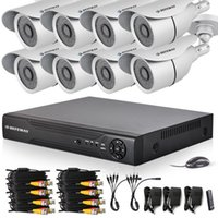 Wholesale DEFEWAY h ch Hybrid DVR KIT P HDMI Output video surveillance CCTV system TVL Outdoor security camera TB HDD