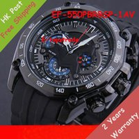 battery swing - New Mens Sports EF PBRBSP AV Chronograph Black Dial Watch EF PBRBSP AV Gent Wristwatch Second Stopwatch Pendulum Swing Function