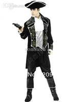 Wholesale New arrive Pirates of the Caribbean cosplay men halloween costumes men party costumes JQ105