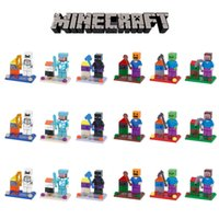 Wholesale Minecraft Building Blocks Minifigures Sets Model Classic Toys brinquedos Bricks Action Figures gifts for children