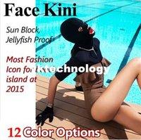 Wholesale 12 Color Summer Fashion Facekini Full Face Mask Face Kini Beach Wwiming Cap Sunblock Jellyfish Proof