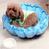 Wholesale TOP SALE Pet Nest Fennel Dog Bed Dog Mat Teddy Drawstring Round Bottom Cotton Nest Pumpkin Mat DP871856