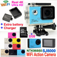action card - SJ8000 Ultra HD K fps Sports Camera Waterproof WIFI Action Camera GB TF card LCD P FPS MP Helmet Camcorder DVR