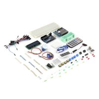 Wholesale Hot Worldwide uduino uno r3 starter advanced kit with breadboard sensor motor jumper wires for arduino