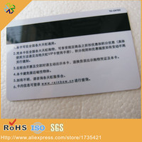 Wholesale CR80 glossy surface effect round corner plastic pvc magnetic membership card