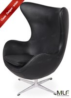 egg chair - MLF Arne Jacobsen Egg Chair Imported Italian Leather Hand Sewing Adjustable Tilt High Density Foam Swivel