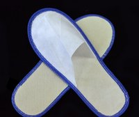 Wholesale one time slippers disposable shoe home white sandals hotel babouche travel