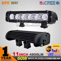 Wholesale INCH W CREE LED LIGHT BAR SPOT FLOOD BEAM FOR OFFROAD BAR TRACTOR TRUCK BOAT MILITARY EQUIPMENT LED BAR LIGHT