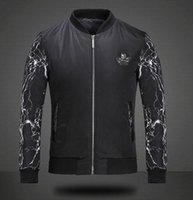 nylon polyester satin ribbon - Men s winter new European and American high quality nylon quilted jacket coat skull shield spell color Slim cotton Cap