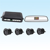 Wholesale Car LED Mirror Parking Sensor Kit Sensors Sound Alert Indicator mm V Reverse Assistance Monitor System SCYF0636