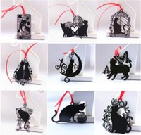 Wholesale Lovely Cute Kawaii Metal Bookmark Black Cat Book Holder for Book Paper Creative Gift Korean Stationery