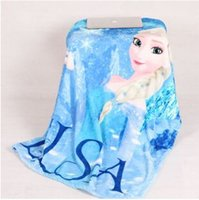 Wholesale Christmas Gift Frozen Elsa Blanket Anna Dairy queen princess adventures raschel blankets polar fleece carpet mat gifts for children baby hot