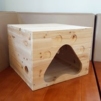 Wholesale custom processing wooden green cedarwood x40 x30cm cattery pet cat toy cat cage furniture for cat dog