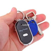 Wholesale Whistle Sound Control LED Key Finder Locator Anti Lost Keychain Localizador de Chave Black