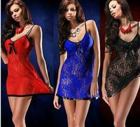 Wholesale 2015 Sexy Lingerie Nightwear Underwear Ladies Sleepwear Babydoll G String Lace Dress