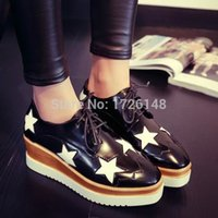 Wholesale Freeshipping brand Stella m pointed toe shoes platform platform lacing single shoes