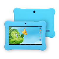 al por mayor tablet pc quadcore-¡Nueva llegada! 7 pulgadas iRULU Android 4.4 A33 Kids Tablet PC QuadCore doble cámara de resistencia a la gota niño Android Tabletas