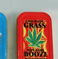 Wholesale Hot Selling Small Cigarette Tobacco Tin Plate Box Metal Pattern Random HG Random