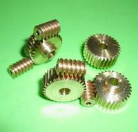 Wholesale 0 M Teeths worm rod gear Remote control toys steering gear copper worm gear combination