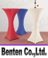 Wholesale llfa1286 cm diameter cm height cocktail spandex lycra table cloth wedding table cover