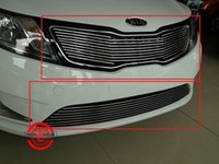Wholesale High quality stainless steel Front Grille Around Trim Racing Grills Trim For KIA Rio K2