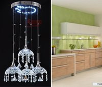 Wholesale Postage fashion SMD LED umbrella hanging lamp Crystal dining light study chandelier dining room light bar chandelier