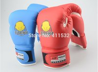 kids boxing gloves - Age Kids Children Cartoon Sparring MMA Boxing Gloves Red Training