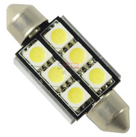 Wholesale 10pcs SMD canbus festoon interior led dome lights mm Xenon DOME LIGHTLED BULBS doom map door lamp festoon dome interior