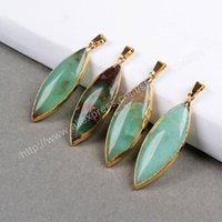 angels australia - 100 Natural green chalcedony Australia Jade pendant Gold Plated tear drop druzy charms vintage style drusy Jewelry