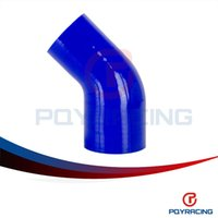 Wholesale PQY STORE BLUE quot quot mm mm Degree Elbow Reducer Silicone Hose Pipe Turbo Intake PQY SH4525030