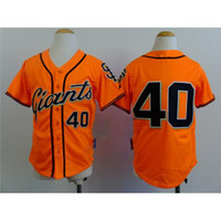 authentic kids brand - Orange Kids Baseball Jersey Giants Madison Bumgarner Authentic Baseball Shirt Brand Outdoor Jersey Cheap Boys Baseball Wears in Stock