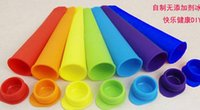 Cheap push up DIY Silicone Ice Lolly Pop Lollies Maker Jelly Moulds Jelly Molds Popsicle Mould Mold Ice Cream Tubs New Design Lolly Maker