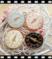 Wholesale 20 MM KC Gold quot Alice clock quot Glazing Pendants Alloy Pendants Jewelry Charms