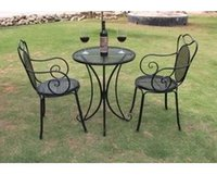 cheap furniture - Cheap wrought iron outdoor furniture three kits balcony tables and chairs stylish coffee table office chair
