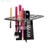 air tool accessories - Folding Collapsible Air Drying makeup brushes holder tree dry brush hold brushes accessories aside hang tools for makeup brushes