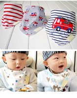 Wholesale Hot Sales set Kids Infant Newborn Baby Bandana Bibs Towel Saliva Towel Burp Cloths Cotton Cartoon Animal PX91