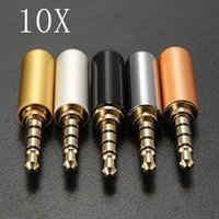 Wholesale 10PCS Brand New High Quality Pole mm Male Headphone Jack Plug Metal Audio Soldering Heat Shrinkable Tube