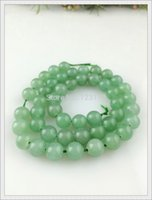 nature green jade bracelet - DIY Nature DongLing Jade Stone Green Semi precious Stones Beads for Bracelet necklace Size mm