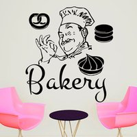 bakery chef - Funny Bakery Chef Wall Sticker Home Decor PVC Removable DIY Decals Cakes Self Adhesive Wall Decorative