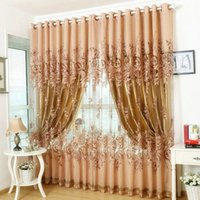 Wholesale Window Curtain For Living Room Bedrooms Hotel Blackout Finished Luxury Curtains Tulle Beads Purple Brown Red FreeShipping