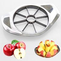 al por mayor de verduras tallado de frutas-Acero inoxidable Apple Slicer Fruta Herramientas vegetales Accesorios de cocina Cuchillo de talla de fruta Cute Gadgets de cocina