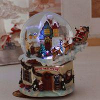 christmas music box - 2015 New Christmas buggy LED light music water creative music box Christmas gift